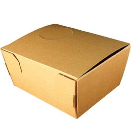"CAJA ""TO GO"" PAPEL BIO KRAFT TRICAPA CON TAPA TROQUELADA AUTOMONTABLE 128X105X60mm"