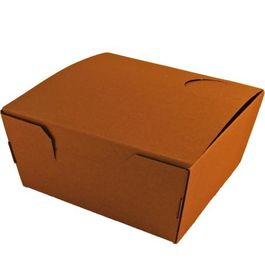 "CAJA DE PAPEL ""TO GO"" BIO KRAFT TRICAPA CON TAPA TROQUELADA AUTOMONTABLE 155X150X70mm"