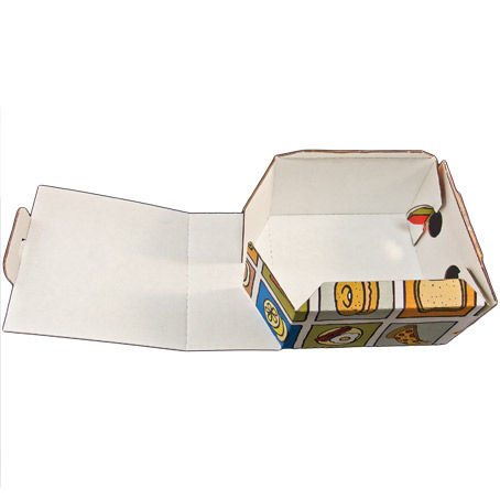 "CAJAS ""TO GO"" MICROCANAL PAPEL VEGETAL DECORADAS 130X130X70MM"
