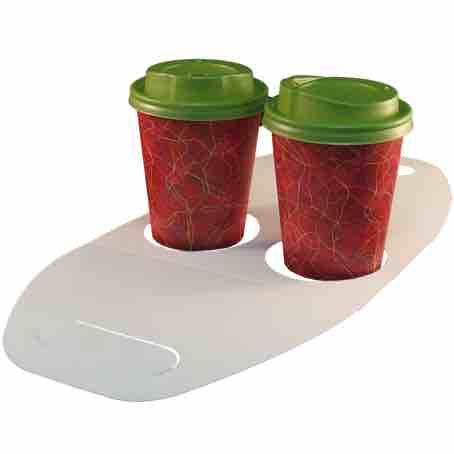 TRANSPORTIN PORTAVASOS CARTONCILLO FOLDING DECORADO FONDO BURDEOS 370X170mm PARA 2 VASOS DIAMETRO 80mm PARA VASO CUP009-SUS009-SUS199