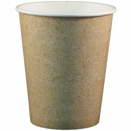 VASOS PAPEL/CARTON COLOR KRAFT/MARRONES 355ml 12onzas PARA BEBIDAS CALIENTES