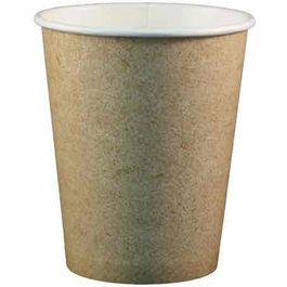 VASOS PAPEL/CARTON COLOR KRAFT/MARRONES 266ml 8/9onzas PARA BEBIDAS CALIENTES
